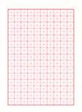 Diagonaal Rood Millimeterpapier Royalty-vrije Stock Fotografie