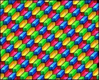 Diagonaal veelkleurig patroon Stock Afbeelding