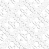 Diagonaal wit golvend vierkanten en bloemenpatroon stock illustratie