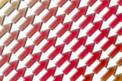 Diagonal 01 de las flechas Foto de archivo