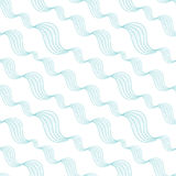 Diagonal abstract waves seamless pattern Royalty Free Stock Photo