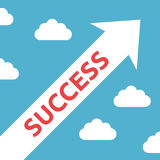 Diagonal arrow, success concept Royalty Free Stock Photo