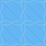 Diagonal azul retra 3D con cuatro hojas Fotos de archivo