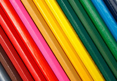 Pencils diagonal Royalty Free Stock Photo