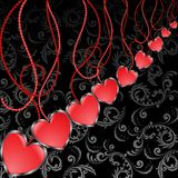 Diagonal background with hearts Stock Photos