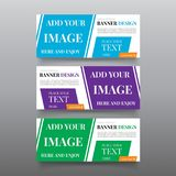 Diagonal banner design templates. Web banner design vector with text, button. Editable Website banner template. Business, promotio Royalty Free Stock Photos