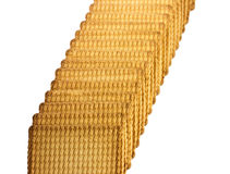 Diagonal of biscuits. Biscuits, arranged in a diagonal line Stock Images