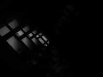 Diagonal black and white futuristic windows bokeh background Stock Image