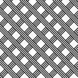 Diagonal Black and White Stripes Grid Illustration Royalty Free Stock Photos