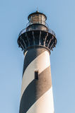 Diagonal black and white stripes mark the Cape Hatteras lighthou Royalty Free Stock Image