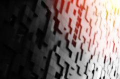 Diagonal blocks bokeh with light leak background Stock Photography