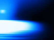 Diagonal blue motion blur with light leak background Stock Image