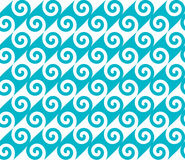 Diagonal blue spiral wave pattern. Seamless vector pattern. Diagonal blue spiral wave pattern. Seamless vector pattern for print royalty free illustration