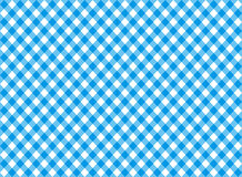 Diagonal blue tablecloth seamless pattern Stock Image