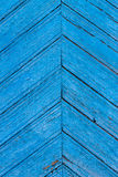 Diagonal blue  wooden fence of planks Royalty Free Stock Image