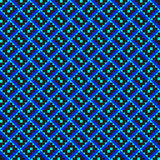 Diagonal Blue ZigZag Pattern. African Fabric Pattern With Geometric Shapes Stock Photography
