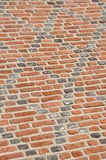 Diagonal brick wall Royalty Free Stock Images