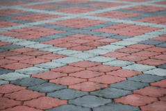 Diagonal Bricks Royalty Free Stock Photos