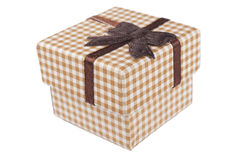 Diagonal Brown Box Royalty Free Stock Image