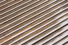 Diagonal brown wet wood lines Stock Image