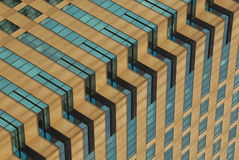 Diagonal building Stock Images