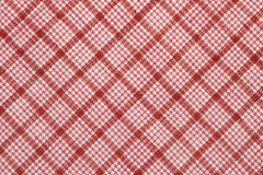 Diagonal checked cotton fabric Stock Photography