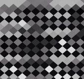 Diagonal checkerboard pattern wallpaper. Diagonal checkerboard pattern black and white color background Stock Photo