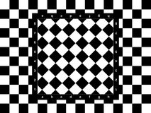 Diagonal chessboard Stock Image
