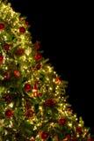 Diagonal christmas tree Royalty Free Stock Images