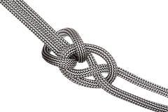 Diagonal climbing knot Royalty Free Stock Photo
