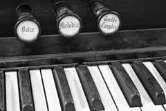 Diagonal Closeup of Organ Keys II Stock Photo
