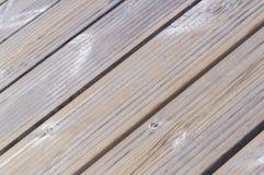 Diagonal closeup on wooden planks Stock Image