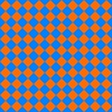 Diagonal cloth seamless pattern orange and blue Stock Photo