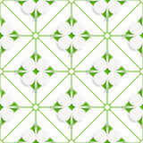 Diagonal clove leaves on green pattern Stock Photo