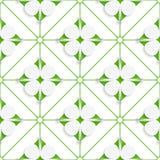 Diagonal clove leaves on green pattern Stock Photo