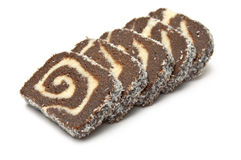 Diagonal coco roll slices Stock Photo