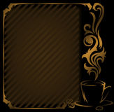 Diagonal coffee Frame Stock Images