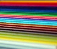 Diagonal color pencils gradient spectrum texture Royalty Free Stock Images