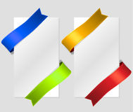 Diagonal color silk strips Royalty Free Stock Photography
