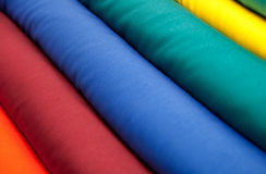 Diagonal Colorful Textiles Next to Each other Royalty Free Stock Photography
