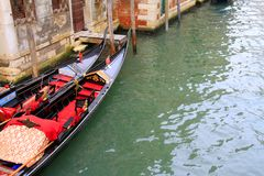 Diagonal composition with gondolas. Travel Venice: diagonal composition with two gondolas stock photos
