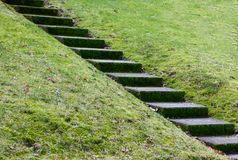 Diagonal concrete steps Royalty Free Stock Photo