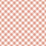 Coral Gingham Seamless Pattern. Diagonal coral and white gingham seamless pattern vector illustration