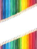 Diagonal crayons Royalty Free Stock Image
