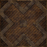 Diagonal cross manhole cover (Seamless texture) Royalty Free Stock Photos