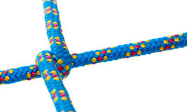 Diagonal cross rope with shallow focus, isolated Stock Photo