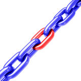 Diagonal da tensão Chain Imagem de Stock