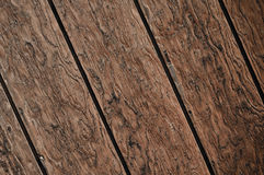 Diagonal Dark Wood Plank Background royalty free stock photography