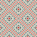 Diagonal dashed lines abstract background. Outline seamless pattern with geometric motif. Simple symmetric ornament. Stock Images