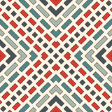 Diagonal dashed lines abstract background. Outline seamless pattern with geometric motif. Simple symmetric ornament. Stock Photography